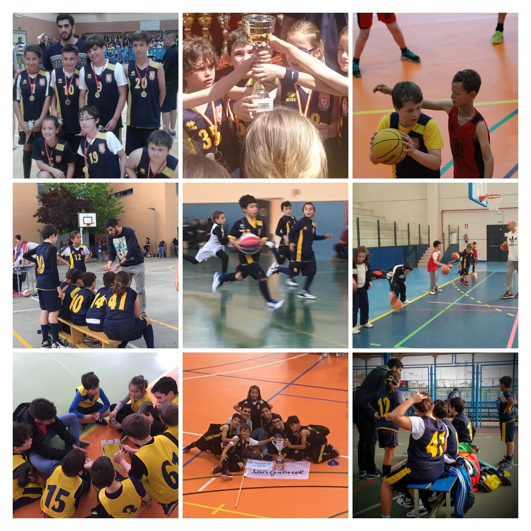 Baloncesto web collage